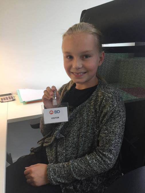 Astrid Y7 - went with her dad to work at Becton Dickinson in Nyon.