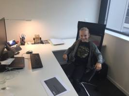 Astrid Y7 - enjoying a private office at Becton Dickinson in Nyon.