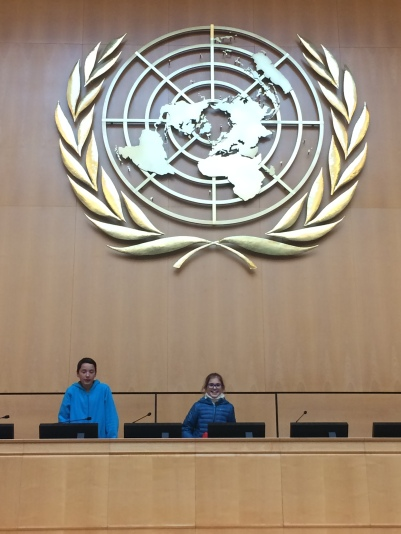 Ben and Greta Y8 - at the United Nations.