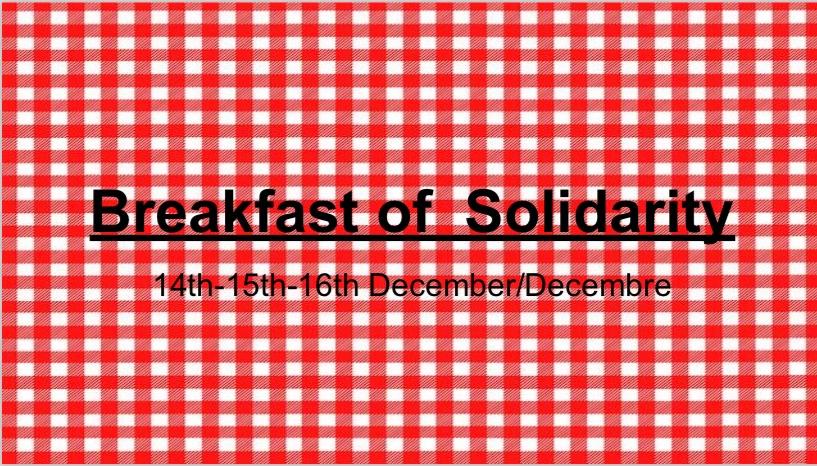 Breakfast of solidarity